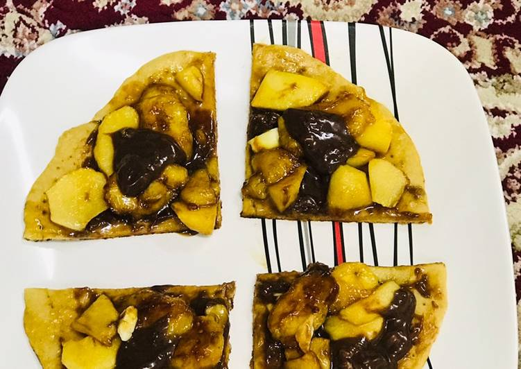 Steps to Make Quick Fruit pizza  Pizza in my style