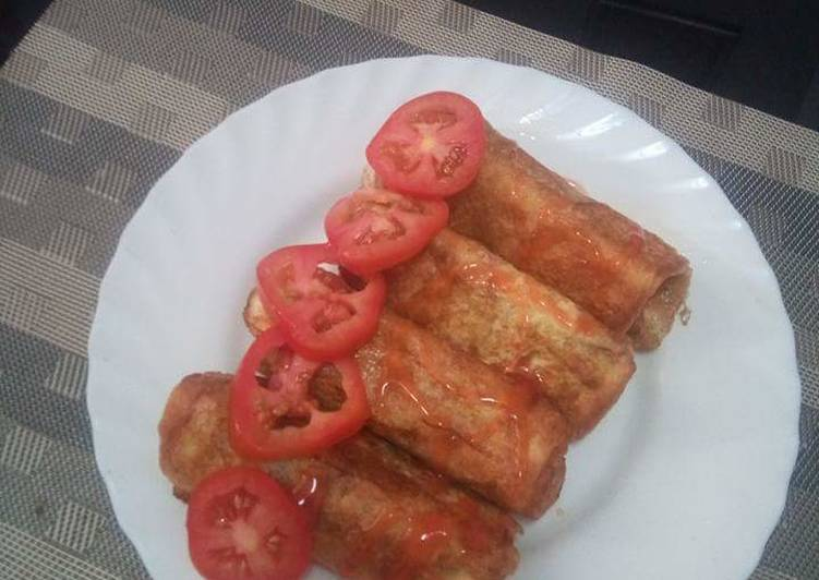 Sausage rolled in French toast