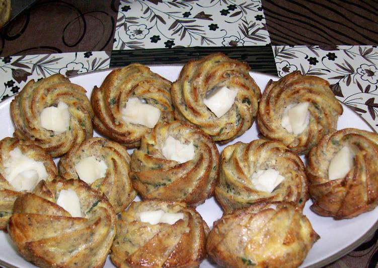 Muffins viande hachée et fromage