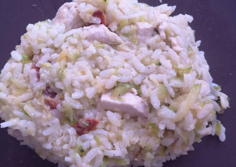 Recipe: Perfect Risotto courgette poulet chorizo