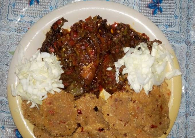 Fried Cassava with Pepper Chicken