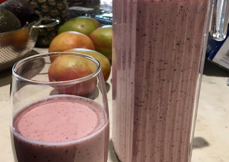 Easiest Way to Make Perfect Coconut Berry Yoghurt Smoothie