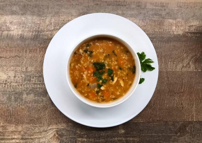 Soupe complète légumes et poulet