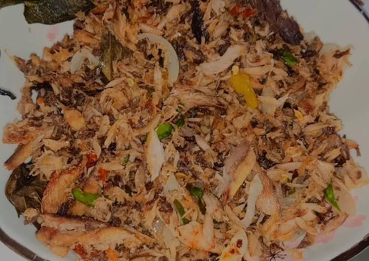 Ikan tongkol suir pedas - cookandrecipe.com