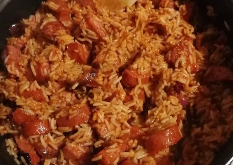 Riz aux saucisses