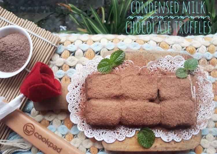 Resep Condensed Milk Chocolate Truffles Hanya 2 Bahan Oleh Dini Apsilia Cookpad