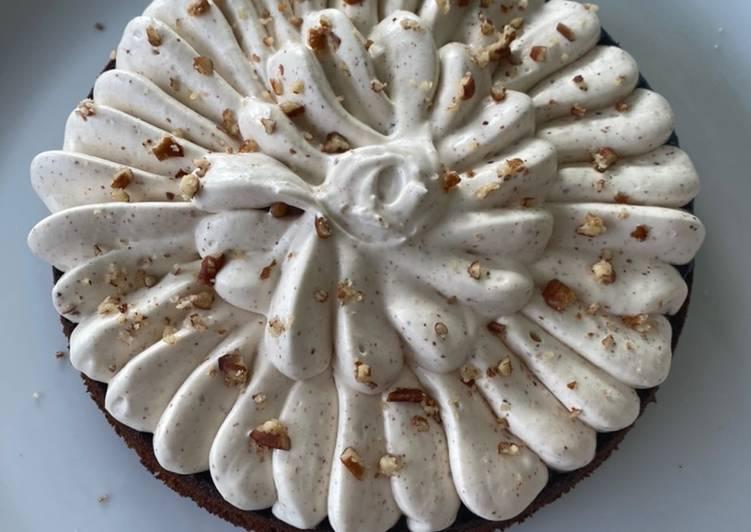 Gâteau au chocolat avec chantilly au mascarpone