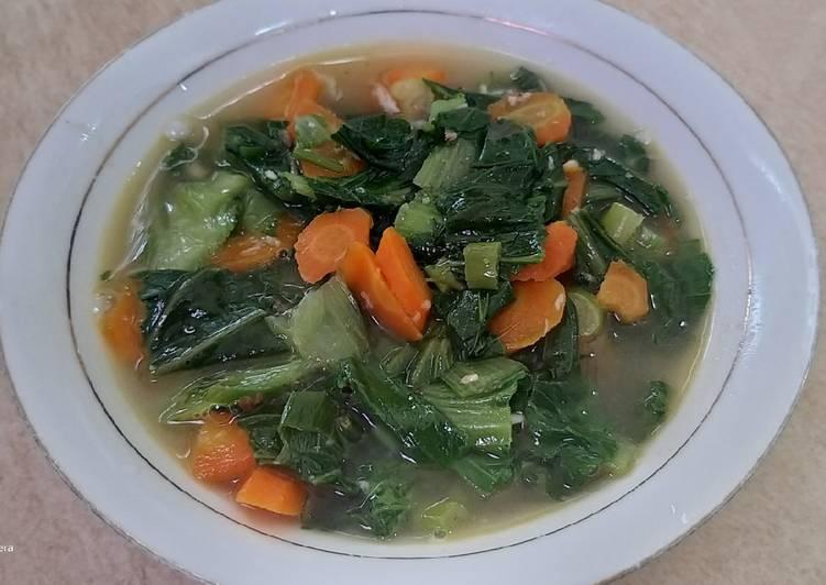 Sayur Pakcoy wortel