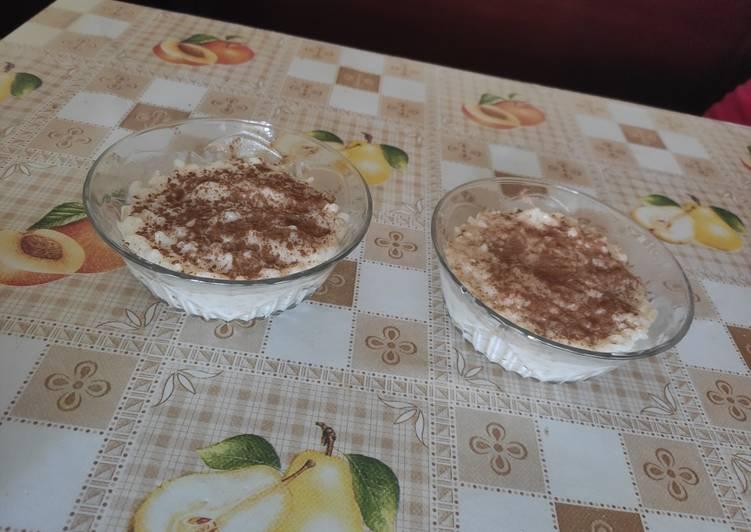 Arroz con leche light (sin lactosa y sin azúcar)