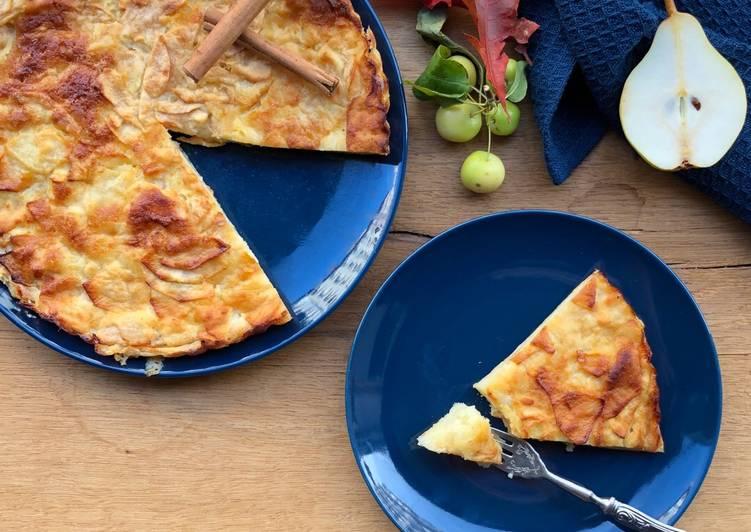 Les Meilleures Recettes de Gâteau invisible aux pommes et aux poires