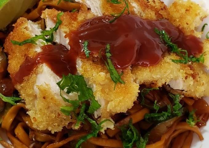 Easiest Way to Make Appetizing  Chicken Katsu Noodle Bowl