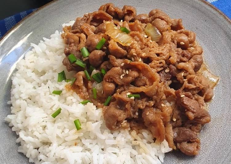 Tumis Daging ala Yoshinoya