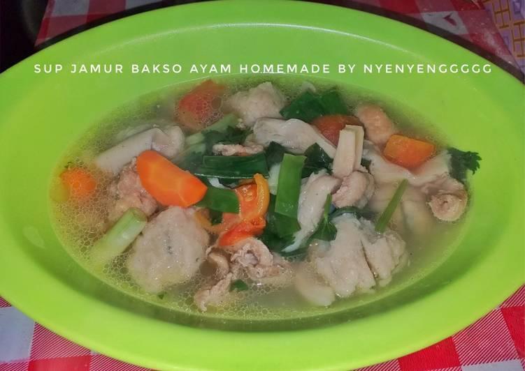 🥘 Sup Jamur Bakso Ayam 🥘