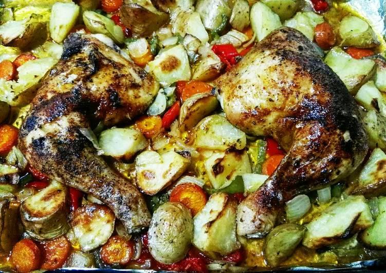 Pollo al horno (cuartos traseros) Receta de juanbamuller ...
