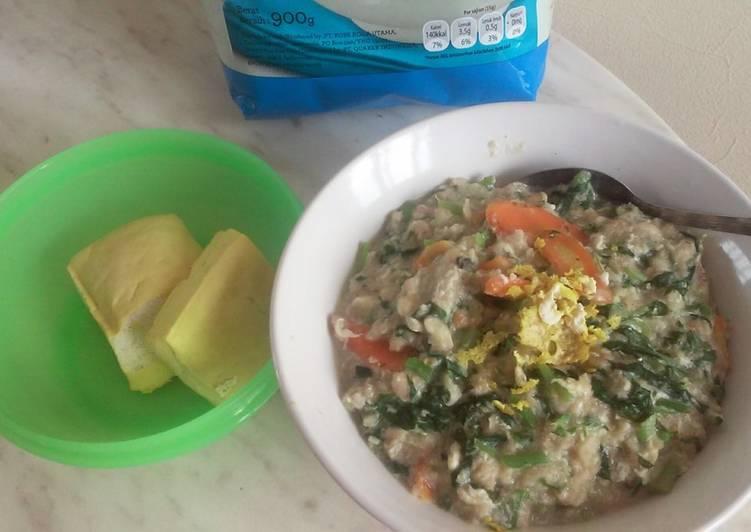 Resep Bubur Oatmeal rendah kalori Paling Gampang