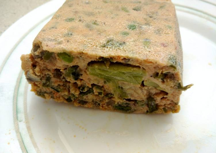 Pastel rápido de verduras en microondas
