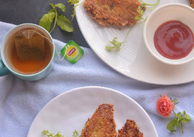 Chicken cutlets from leftover chicken curry