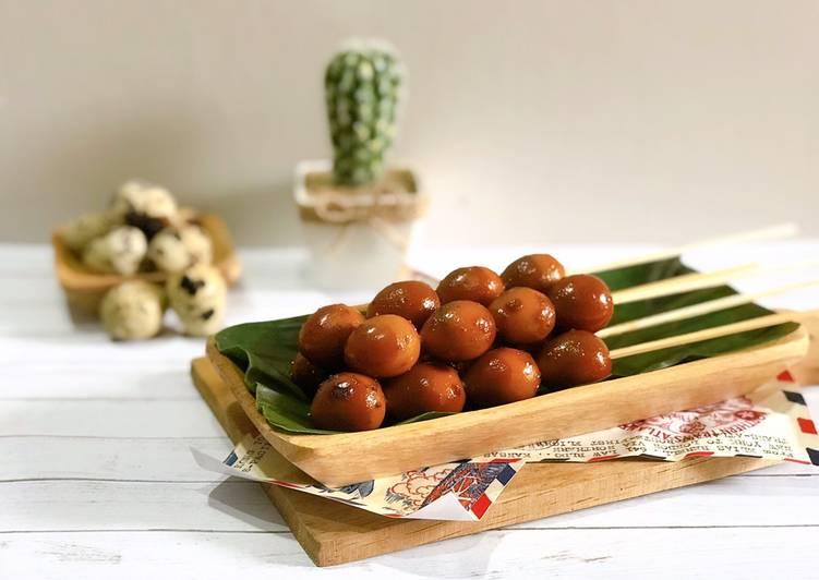 Sate Telur Puyuh Angkringan Dapur Mamiko