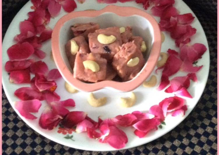 Fresh rose and cashew fudge - Laurie G Edwards