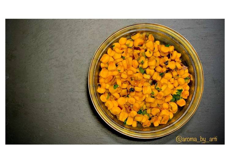 Steps to Prepare Speedy Sweet corn salad   #Vegan  #Budgetbasics #easy #healthy #quick #storecupboardcooking #lunchideas