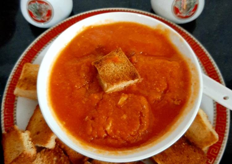 Simple Way to Make Any-night-of-the-week Schezwan Tomato Soup