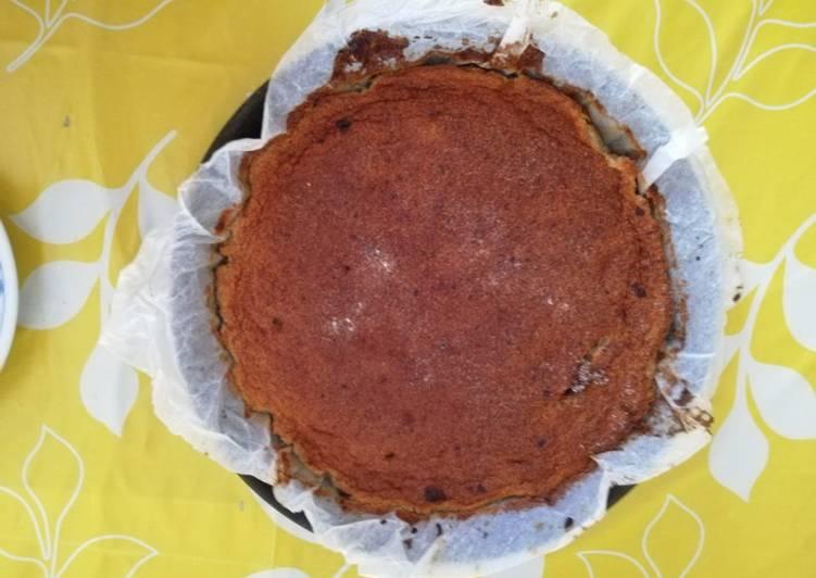 Torta magica amaretti e cioccolato