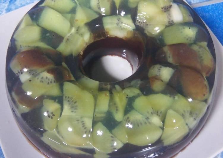 Puding kiwi coklat