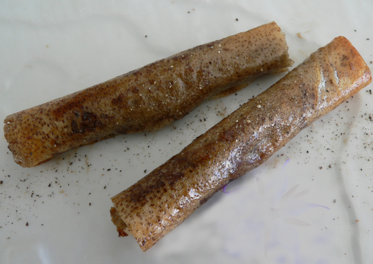 Feuille de brick à la tapenade d'aubergine et d'anchois