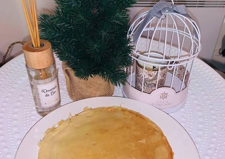Crêpe allégée sans beurre ni sucre