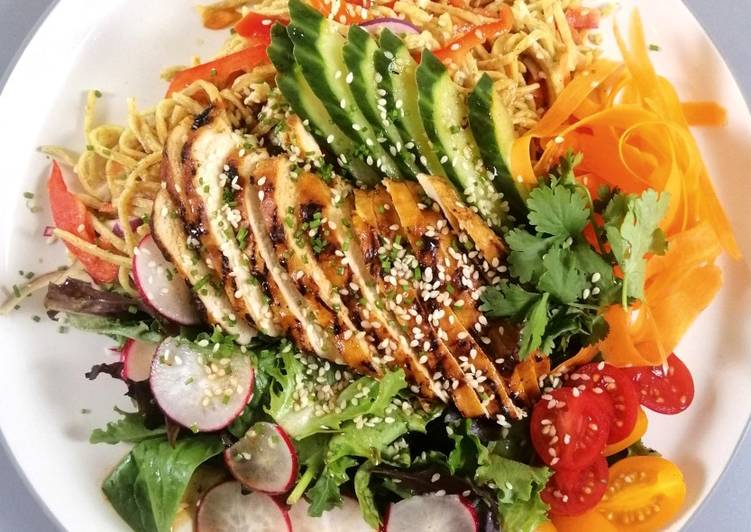 How to Cook Tasty Chicken noodle salad