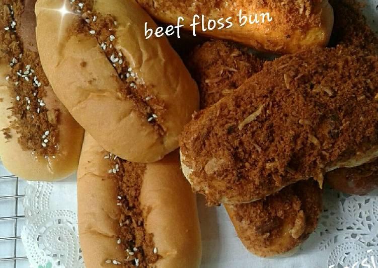 Beef floss bun(roti abon)