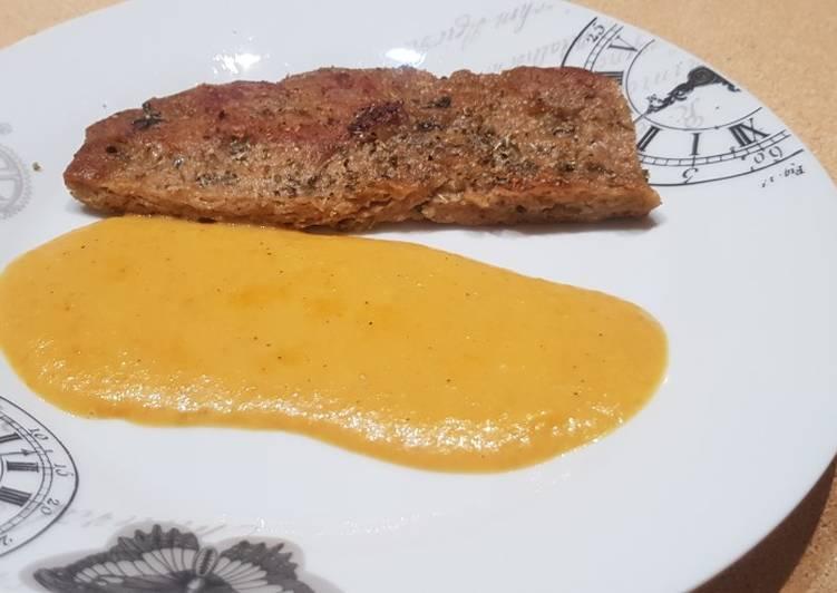 Seitán y salsa naranja tm5