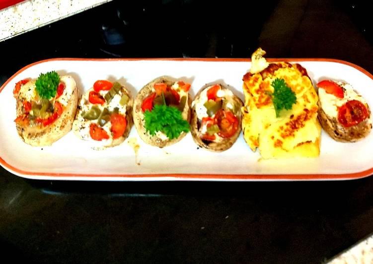 How to Prepare Yummy My Tomato + Basil Bruschetta Stuffed Mushrooms 🥰