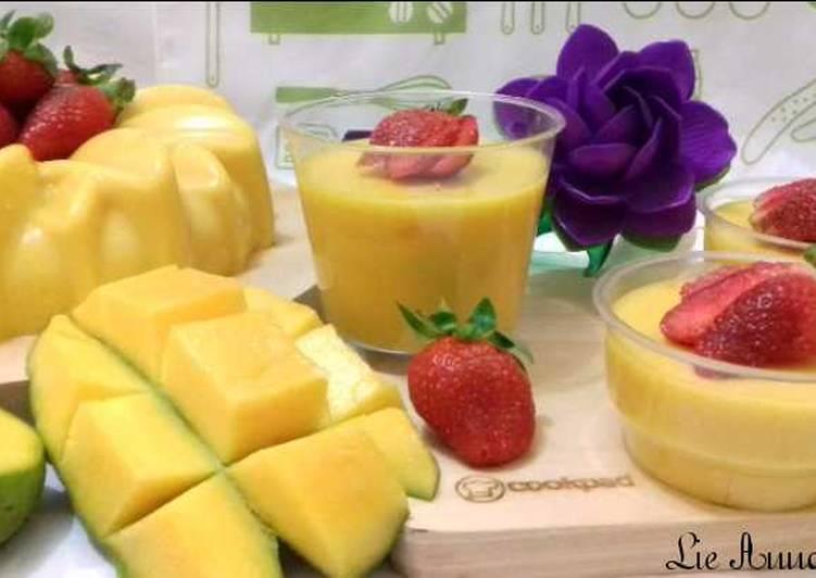 (45.1) Pudding Mangga Segar