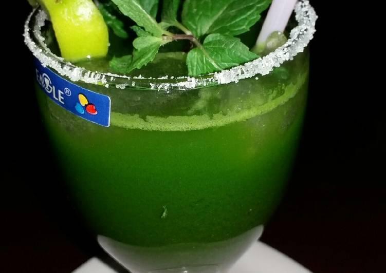 Steps to Prepare Award-winning Kitchen garden leafy Digestive cold drinks