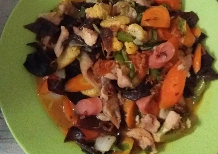 Capjay Sayur Ayam Jamur Simple