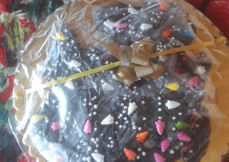 Steps to Make Award-winning Homemade dark chocolate coated with colourful chocolate sprinkles