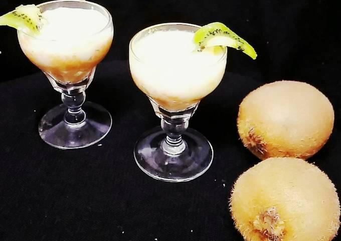 Oats kiwi pudding