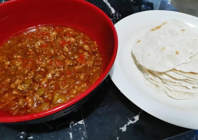 Pressure cooked improv taco
