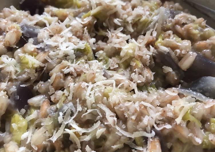 Easiest Way to Prepare Tasty Leek spelt risotto