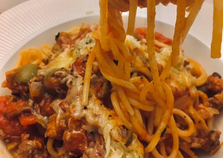 Quick and easy spaghettis Bolognese 🍝