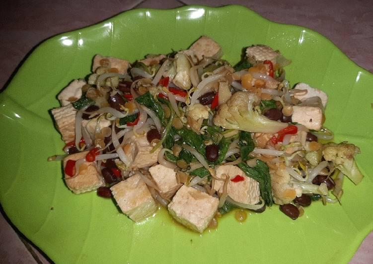 Tofu and vegie   Tahu dan sayur ala vegan