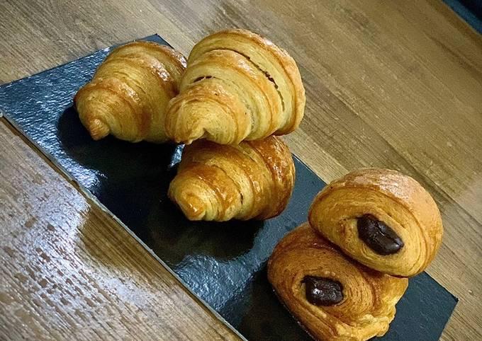 Mini croissants et mini pain au beurre