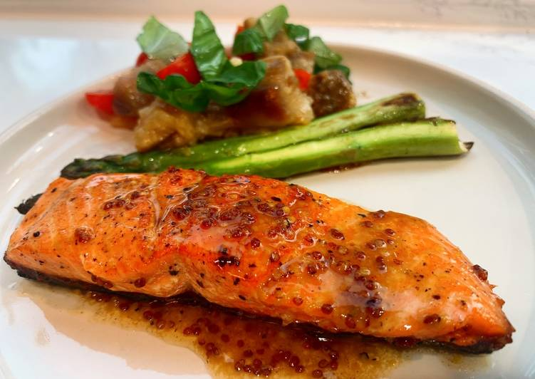 The Best Dinner Easy Vegan Salmon with lemon mustard sauce