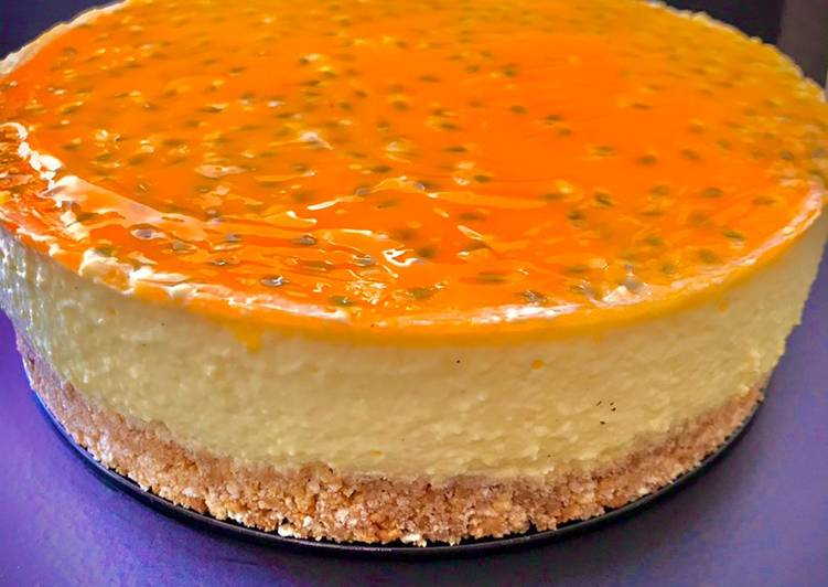 Cheesecake al mango e passion fruit