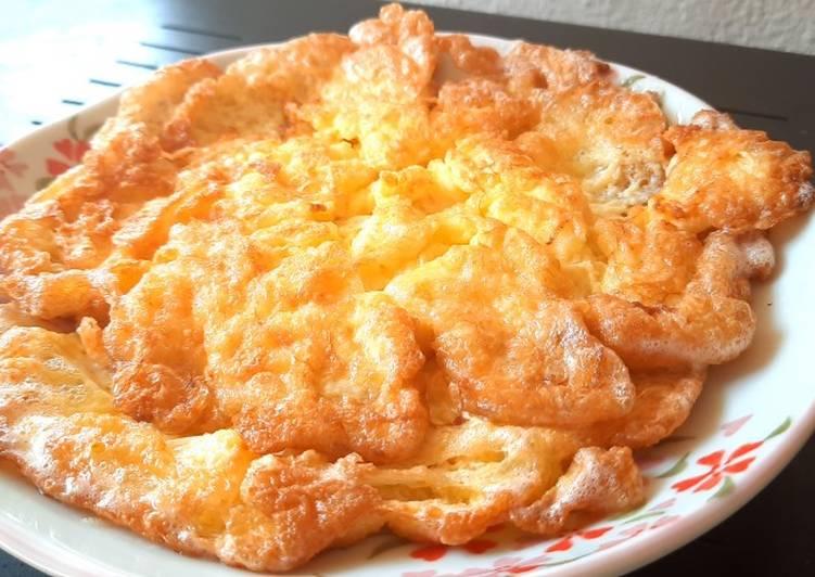 Tips telur goreng gebu
