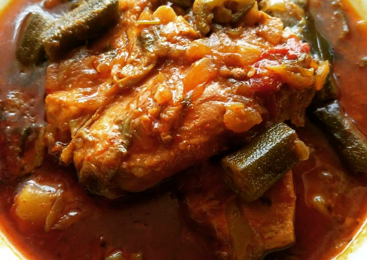 Tangy Fish curry with okra