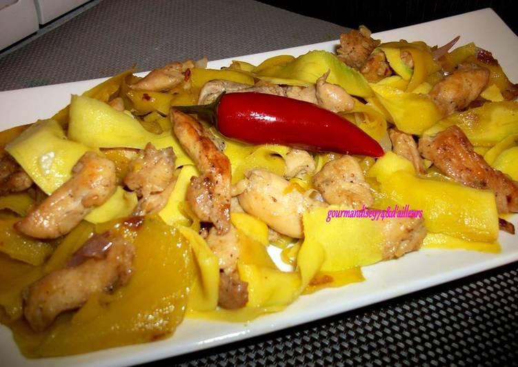 La Délicieuse Recette du Sauté de poulet à la mangue