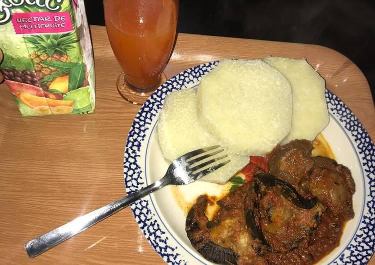 Yam and stew