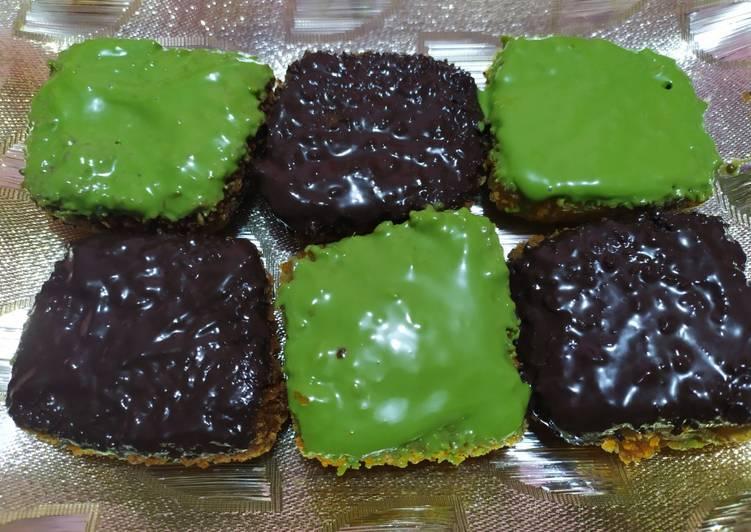 Pisang Nugget Topping Greentea Cokelat